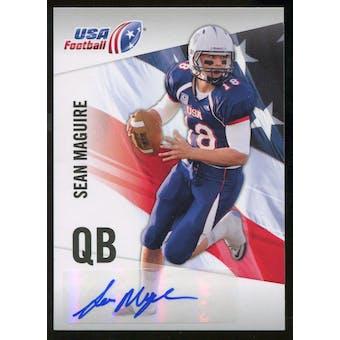 2012 Upper Deck USA Football Autographs #42 Sean Maguire Autograph