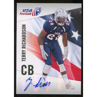 2012 Upper Deck USA Football Autographs #45 Terry Richardson Autograph