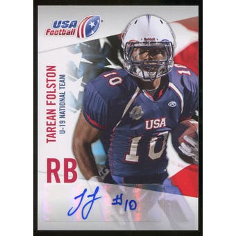 2012 Upper Deck USA Football U-19 National Team Autographs #U1915 Tarean Folston Autograph