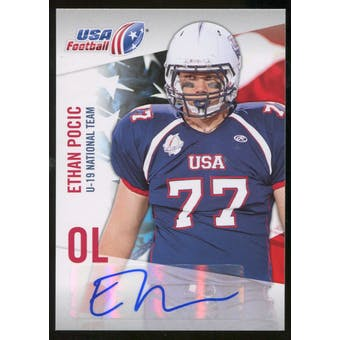 2012 Upper Deck USA Football U-19 National Team Autographs #U1932 Ethan Pocic Autograph