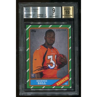 2013 Topps 1986 Montee Ball RC Rookie Autograph Serial #43/140 BGS 9 Mint 10 Auto