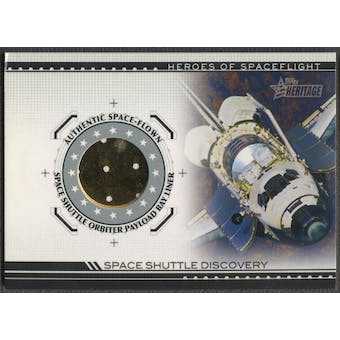 2009 Topps American Heritage Heroes #SSD2 Space Shuttle Discovery A Orbiter Payload Bay Liner Relic