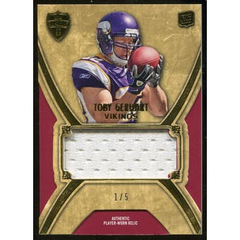 2010 Topps Supreme Toby Gerhart Serial #1/5 Rookie RC Jersey