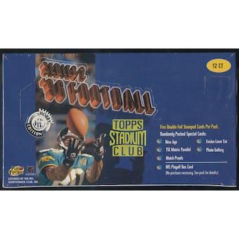 1996 Topps Stadium Club Series 2 Football Jumbo Box