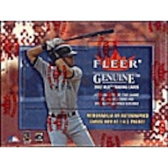 2002 Fleer Genuine Baseball Hobby Box