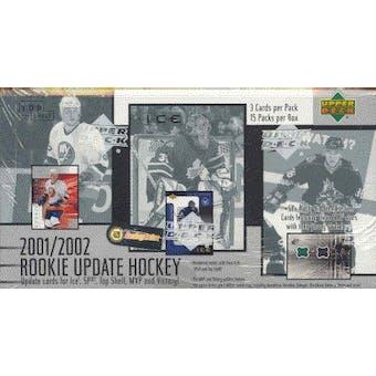 2001/02 Upper Deck Rookie Update Hockey Hobby Box