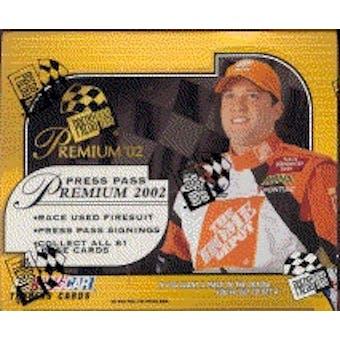 2002 Press Pass Premium Racing Hobby Box
