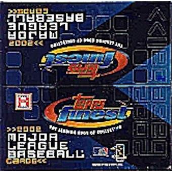 2002 Topps Finest Baseball Hobby Box