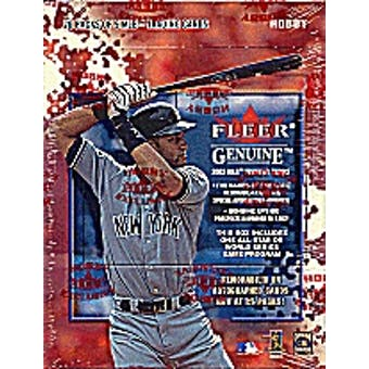 2002 Fleer Genuine Baseball 20 Pack & Game Program Hobby Box