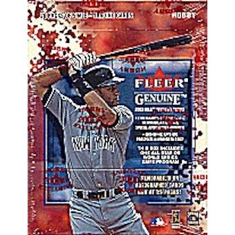 2002 Fleer Genuine Baseball 20 Pack & Game Program Hobby Box