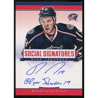 2012/13 Panini Hockey Ryan Johansen Autograph Social Media Inscribed Hard Signed