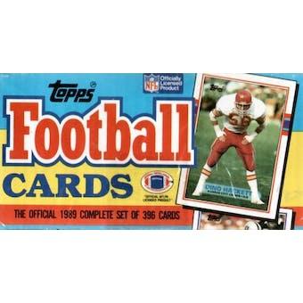 1989 Topps Football Factory Set (Christmas Box)