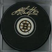 Dougie Hamilton Autographed Boston Bruins Hockey Puck (Frameworth COA)
