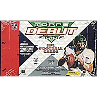 2002 Topps Debut Football Hobby Box