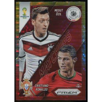 2014 Panini Prizm World Cup World Cup Matchups Prizms Yellow and Red Pulsar #15 Mesut Ozil/Cristiano Ronaldo