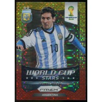2014 Panini Prizm World Cup World Cup Stars Prizms Yellow Red Pulsar #1 Lionel Messi