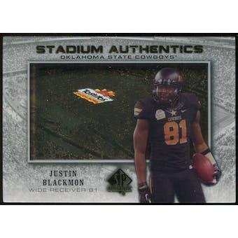 2012 Upper Deck SP Authentic Stadium Authentics Bowl Logo #SABJB Justin Blackmon
