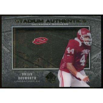 2012 Upper Deck SP Authentic Stadium Authentics #SABB Brian Bosworth