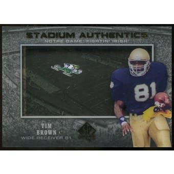 2012 Upper Deck SP Authentic Stadium Authentics #SATB Tim Brown