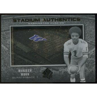 2012 Upper Deck SP Authentic Stadium Authentics #SAWM Warren Moon