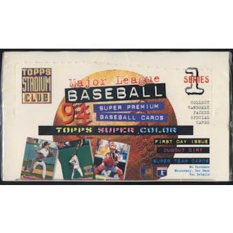 1994 Topps Stadium Club Series 1 Baseball Jumbo Box