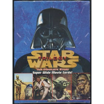 Star Wars Trilogy The Complete Story Super Wide Movie Cards Box (1997 Topps)
