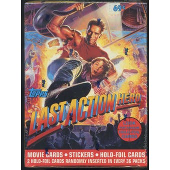 Last Action Hero Hobby Box (1993 Topps)