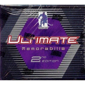 2001/02 Be A Player Ultimate Memorabilia 2nd Edition Hockey Hobby Box