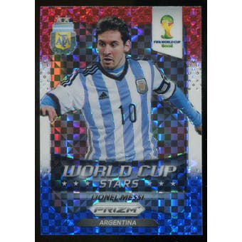 2014 Panini Prizm World Cup World Cup Stars Prizms Red White and Blue #1 Lionel Messi