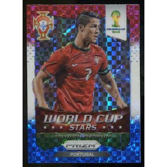 2014 Panini Prizm World Cup World Cup Stars Prizms Red White and Blue #28 Cristiano Ronaldo