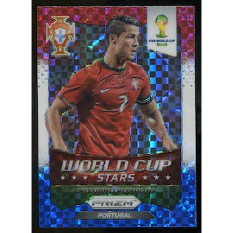 2014 Panini Prizm World Cup World Cup Stars Prizms Red White and Blue #28 Cristiano Ronaldo