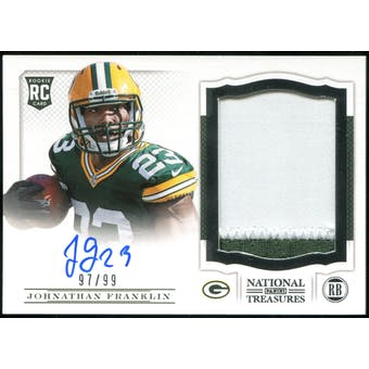 2013 Panini National Treasures #213 Johnathan Franklin RC Jersey Autograph 97/99