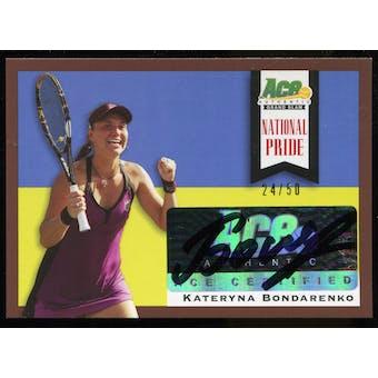 2013 Leaf Ace Authentic Grand Slam National Pride Autographs Brown #NPKB1 Kateryna Bondarenko Autograph 24/50
