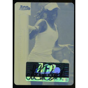 2013 Leaf Ace Authentic Grand Slam Personal Best Autographs Printing Plates Yellow #PBMLB Michelle Larcher de