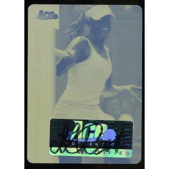 2013 Leaf Ace Authentic Grand Slam Personal Best Autographs Printing Plates Yellow #PBMLB Michelle Larcher de