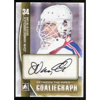 2013-14 In the Game Between the Pipes Autographs #AJV John Vanbiesbrouck SP Autograph