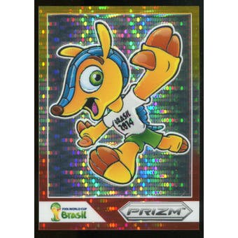2014 Panini Prizm World Cup Fuleco Prizms Yellow and Red Pulsar #3 Fuleco