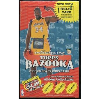 2003/04 Topps Bazooka Basketball Retail Box