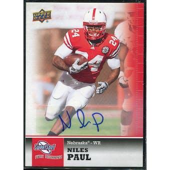 2011 Upper Deck Sweet Spot Autographs #13 Niles Paul RC