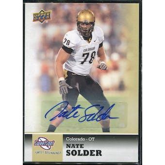 2011 Upper Deck Sweet Spot Autographs #19 Nate Solder RC