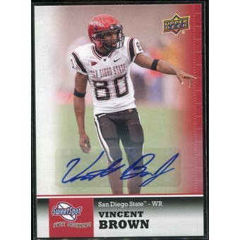 2011 Upper Deck Sweet Spot Autographs #59 Vincent Brown RC