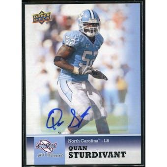 2011 Upper Deck Sweet Spot Autographs #74 Quan Sturdivant RC