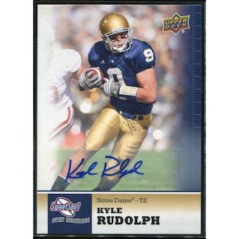 2011 Upper Deck Sweet Spot Autographs #92 Kyle Rudolph RC