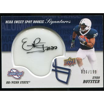 2011 Upper Deck Sweet Spot Rookie Signatures Variations #RSER Evan Royster Autograph /75