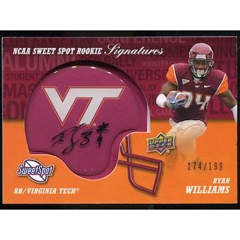 2011 Upper Deck Sweet Spot Rookie Signatures Variations #RSRW Ryan Williams Autograph /75