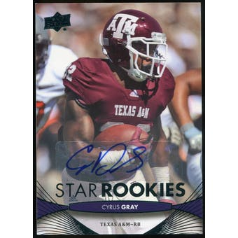 2012 Upper Deck Rookie Autographs #168 Cyrus Gray Autograph
