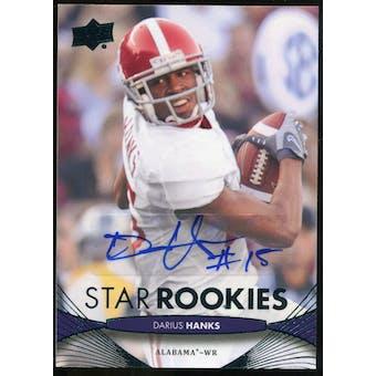 2012 Upper Deck Rookie Autographs #196 Darius Hanks Autograph