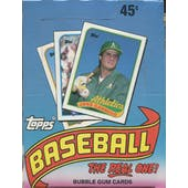1989 Topps Baseball Wax Box (Reed Buy)