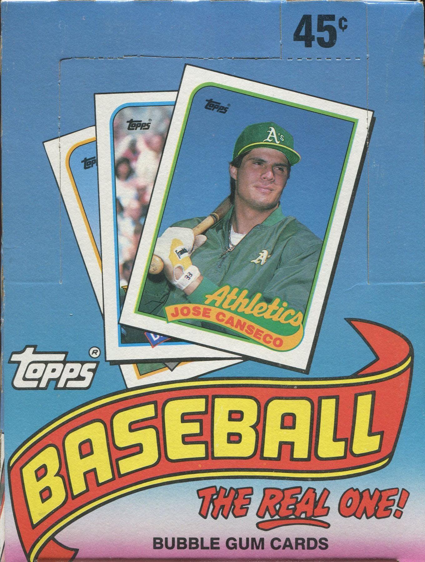 1989 Topps Baseball Wax Box Da Card World