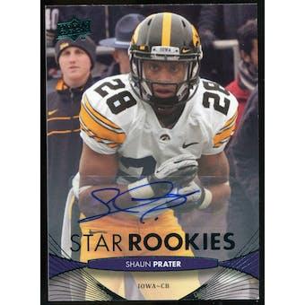 2012 Upper Deck Rookie Autographs #149 Shaun Prater Autograph